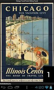 Vintage Travel Sliding Puzzle