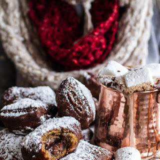 Gingerbread Surprise Beignets with Spiced Mocha Hot Chocolate..