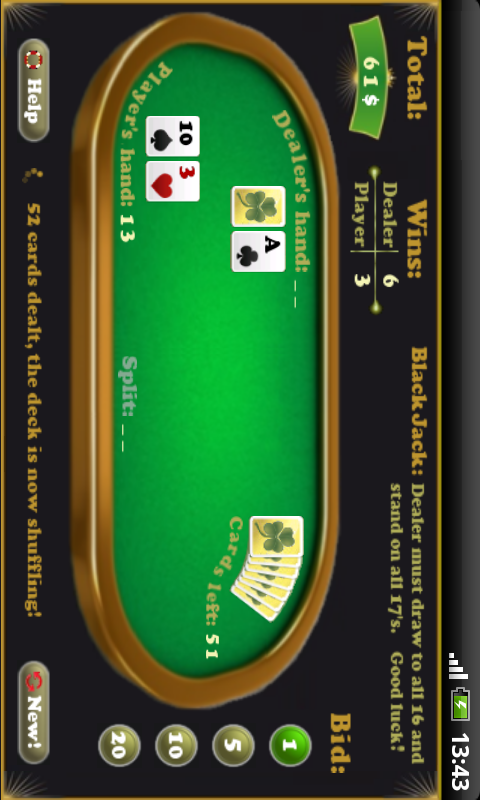BlackJack- screenshot
