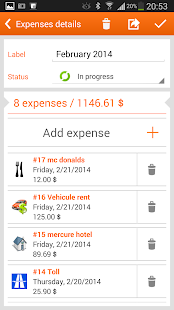 N2F expense reports & mileage - screenshot thumbnail