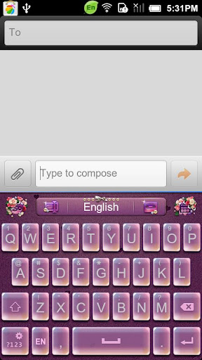 GO Keyboard RomanticDate theme
