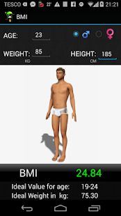 BMI 3D Calculator - screenshot thumbnail