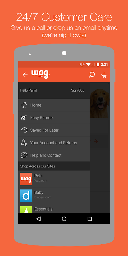 Wag.com- screenshot