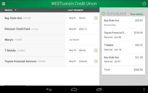 WESTconsin Credit Union - screenshot thumbnail