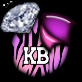 KB SKIN - ZebraCandyDiamonds2