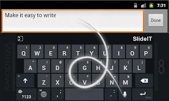 Screenshot of SlideIT Windows 8 Skin