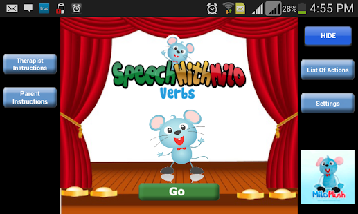 Speech with Milo: Verbs - screenshot thumbnail