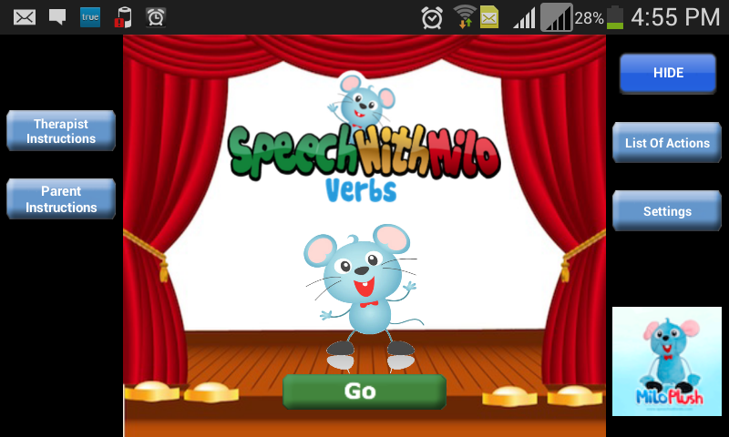 Speech with Milo: Verbs- screenshot