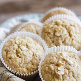 Healthy Applesauce Oat Muffins.