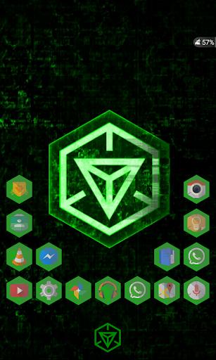 Ingress Green Icons