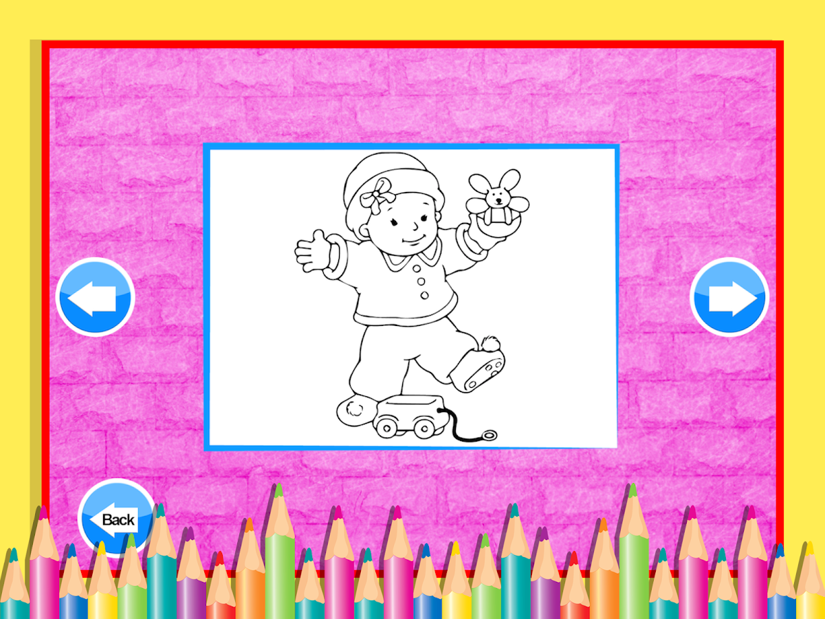 Dora coloring games online to play - Celebrity Baby Coloring Screenshot
