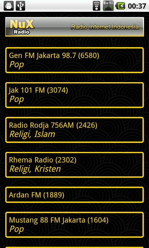 Nux Radio (Deprecated) - screenshot