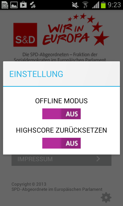 SPD Europa – Screenshot