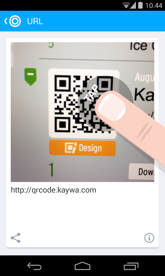 QR Code Reader from Kaywa- screenshot