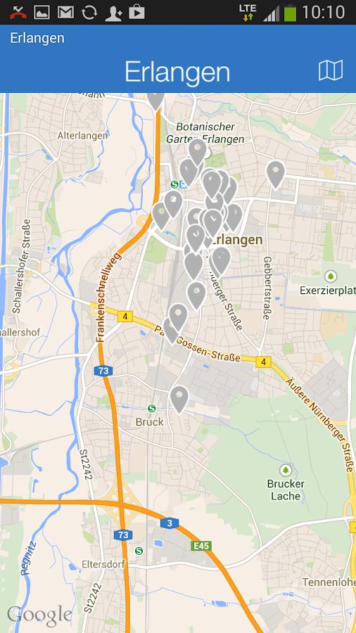Erlangen - Die offizielle App - screenshot
