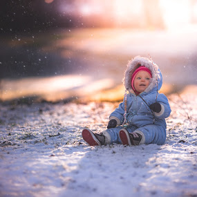 First snow by Niklas Jumlin - Babies & Children Child Portraits ( expression, little, travel, kid, exploring, story, availablestockimage, stock, cold, lifestyle, snow, wonder, action, beforedark, smile, light, fairytale, parenting, candid, happiness, girlhood, moments, portrait, milestones, magic, winter, naturallight, sonya7, natural, small, golden, face, babygirl, manualfocus, unique, moment, children, beauty, cute, playing, child, real, girl, happy, baby, crawling, stockphotographer, learning, shadows, wonders, discovering, naturalmoment, world, Travel, People, Lifestyle, Culture,  )