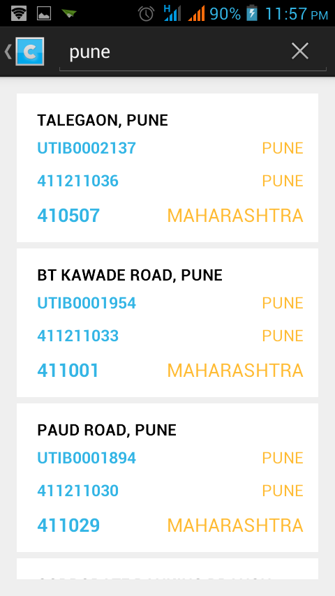 AllCodes PIN IFSC MICR (india) - screenshot