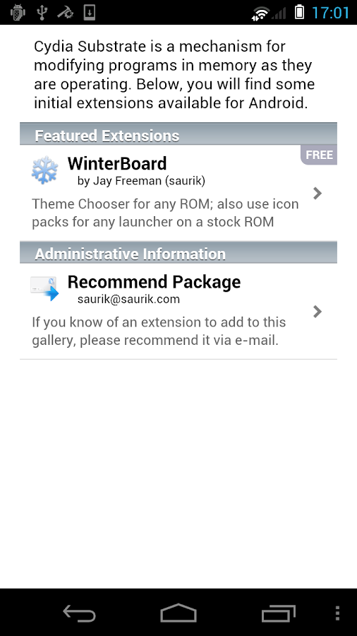 Cydia Substrate - screenshot