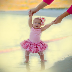 Beach TuTu  by Felicia Andes - Babies & Children Babies ( baby portrait, tutu, baby face, baby girl, beach, baby, baby photography )