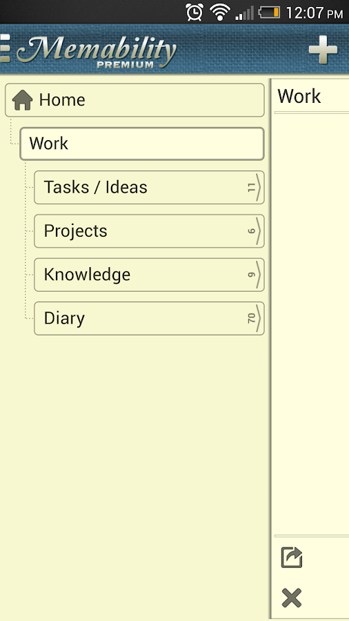Hierarchical notepad tree note - screenshot