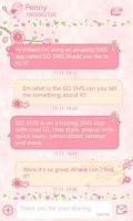 Screenshot of GO SMS Pro Love Petal Theme EX