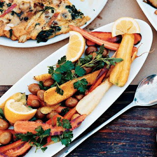 Carrots with Parsley and Olives.