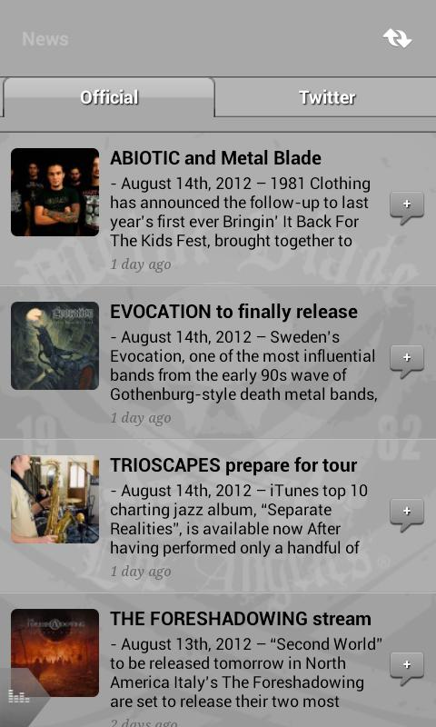 Metal Blade Records- screenshot