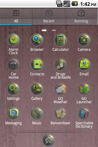 Crystal GO Launcher EX theme - screenshot