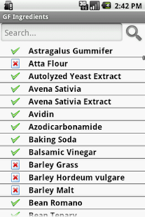 Gluten Free Ingredients- screenshot thumbnail