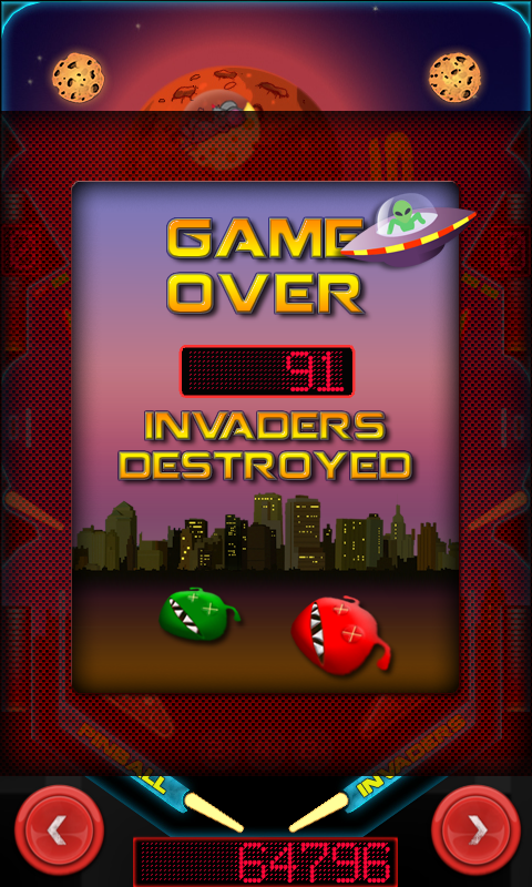 Pinball Invaders- screenshot