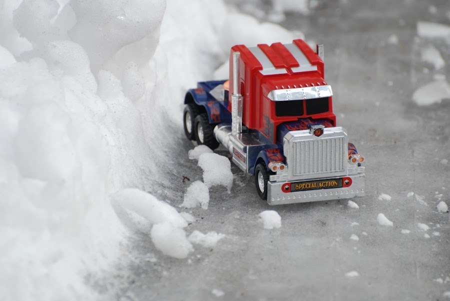 truck on ice by Sony Witjaksono - Artistic Objects Toys (  )