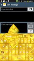 Screenshot of GO Keyboard Gold Glow Theme