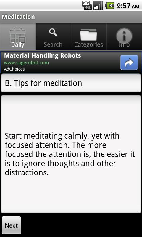 Learn Meditation- screenshot