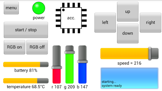 RoboRemoFree Arduino Bluetooth - náhled