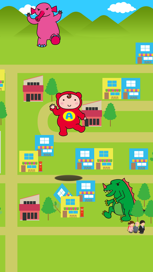 Baby heroes!Monsters knock out- screenshot