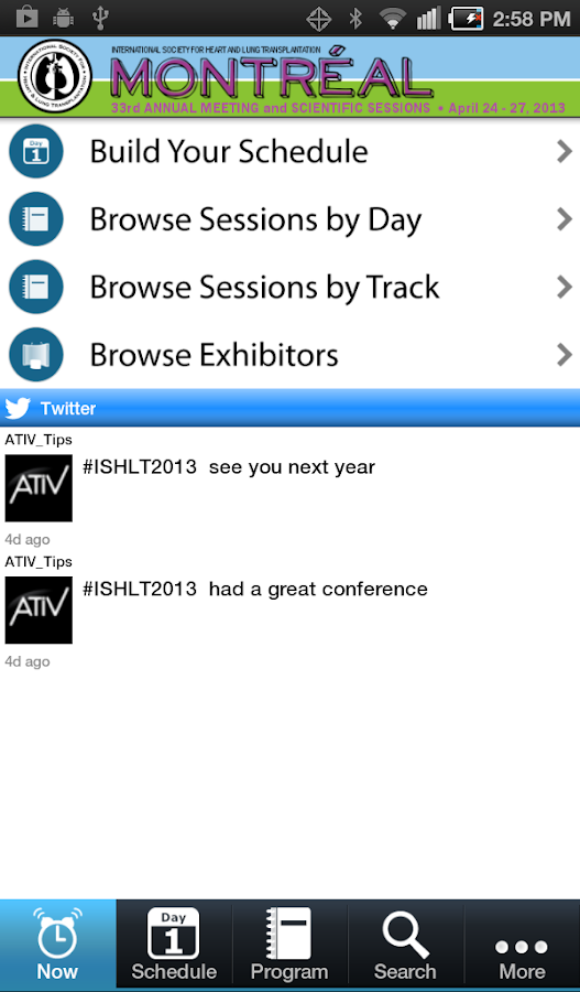 OASIS Mobile Meeting Planner - screenshot