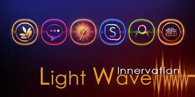 Screenshot of Light Wave GO Launcher Theme