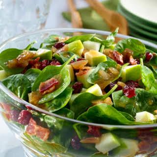 Warm Bacon & Shallot Spinach Salad.