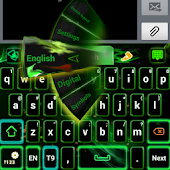 Green Flame GO Keyboard theme