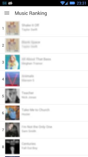 Free Top Music Ranking App MR
