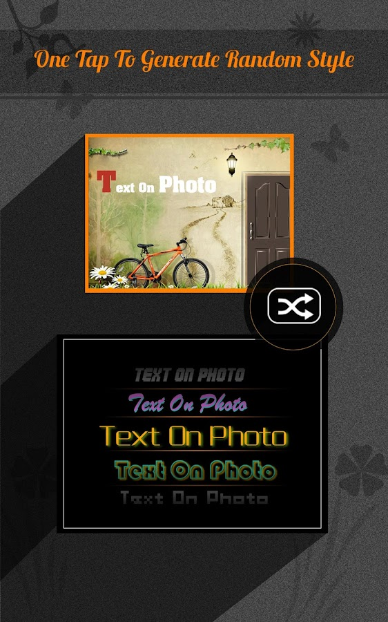 Text on Photo- screenshot