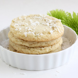Chewy Lime and Coconut Sugar Cookies.