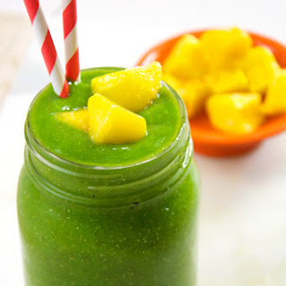 Cucumber Tropical Green Smoothie.