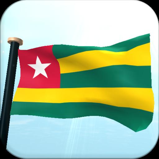 Togo Flag 3D Free Wallpaper