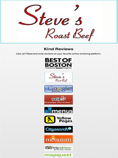 Steves Roast Beef