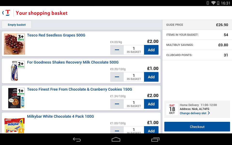Tesco Groceries - screenshot