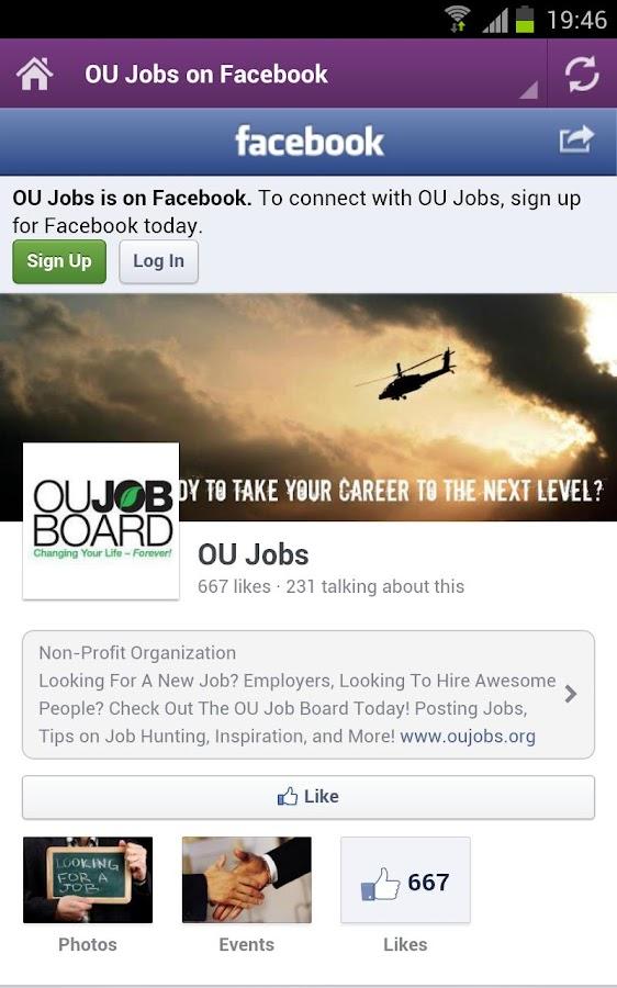 OU Job Board - screenshot