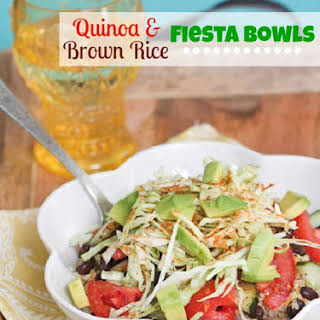 Quinoa and Brown Rice Black Bean Fiesta Bowl.