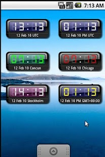 myUTC Clock Widget +World - screenshot thumbnail