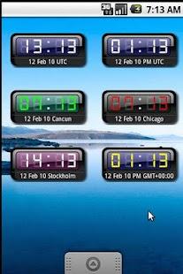 myUTC Clock Widget +World - screenshot thumbnail